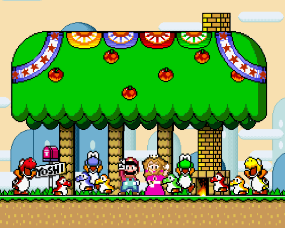SUPER MARIO WORLD ENDING