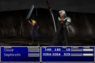 FINAL FANTASY 7- CLOUD AND SEPHIROTH CELEBRATE