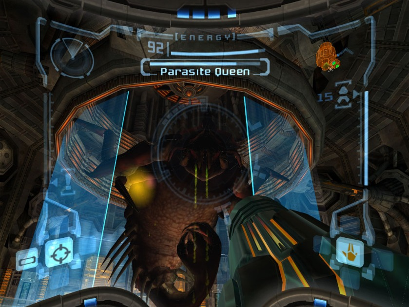 metroid prime- parasite queen