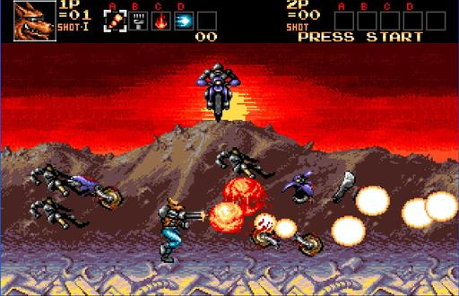 CONTRA- HARD CORPS MOTOR CYCLE ATTACK